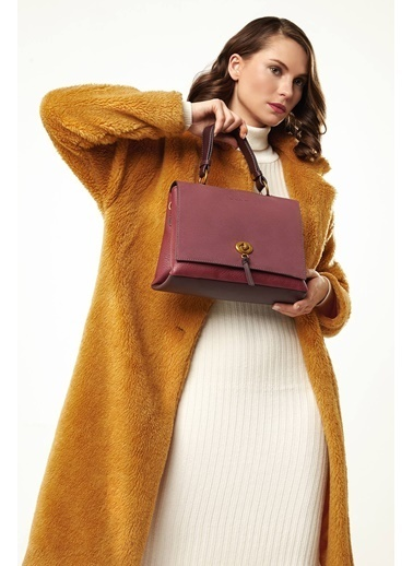 David Jones Clutch / El Çantası Bordo
